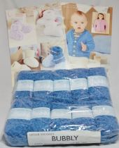Sirdar Snuggly Bubbly 50g - 10 Ball Pack with TWO FREE PATTERNS 4556 & 4557. 105 A CRUSH ON BLUE